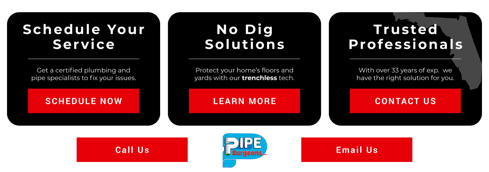 Drain cleaning sewer pipe surgeons Florida